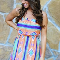 Back To My Roots Dress: Neon Peach | Hope's