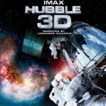 Hubble Imax 3D Movie poster Metal Sign Wall Art 8in x 12in