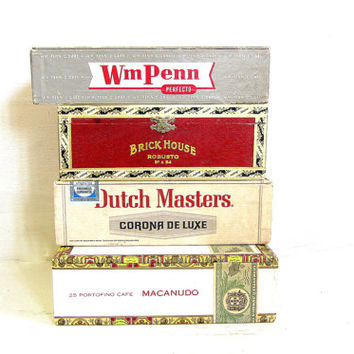 Vintage - Cigar Boxes / set of 4