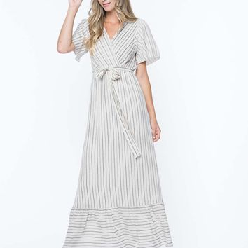 Kimberly Wrap Maxi Nursing Friendly Dress