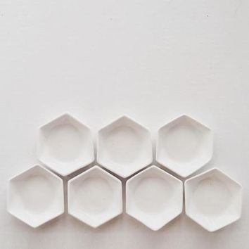 Hexagon Ceramic Ring Dish