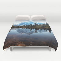 Mt Shuksan Duvet Cover by Sylvia Cook Photography