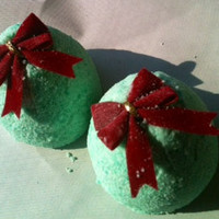 Sunny Christmas Bath Bomb,Special edition , Surprise inside , Smells like the holiday, approx 5 oz Christmas in July