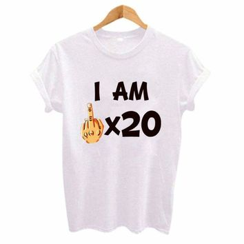 I am 20 Summer T-shirt Women Top Tees