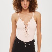 Floral Tie Up Applique Body | Topshop