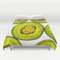 Kiwi Fruit Duvet Cover by Bruce Stanfield