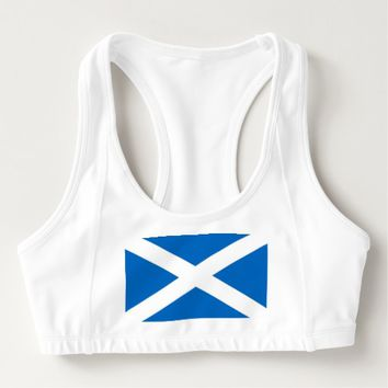 Women's Alo Sports Bra with flag of Scotland