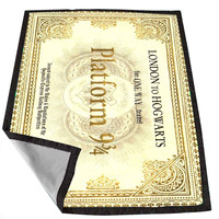 Harry Potter inspired Hogwarts Ticket 1a745e1a-3dfc-4a49-b955-e4d0f15e3a8f for Kids Blanket, Fleece Blanket Cute and Awesome Blanket for your bedding, Blanket fleece *02*