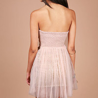 Dolly Shimmer Dress | Strapless Dresses at Pink Ice