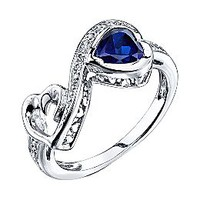 Love Grows™ Sapphire Heart Ring