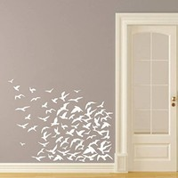 Wall Decals Seagulls Flock Of Flying Birds Tropical Ocean Beach Nursery Wall Vinyl Decal Stickers Bedroom Murals