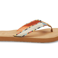 TOMS Natural Burlap Women's Solana Flip-Flops Natural