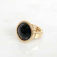 Black Magic Stone Ring Black