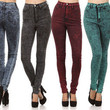 New! High Waist ACID Mineral Wash Skinny HOT ! Trends Jean Pants Size 1 ~ 15