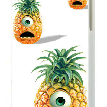 2017 new Pineapple white hard cases for IPHONE 5C + free shipping