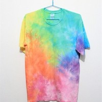 MP Rainbow Color Tie Dye T Shirt 052830 T0610