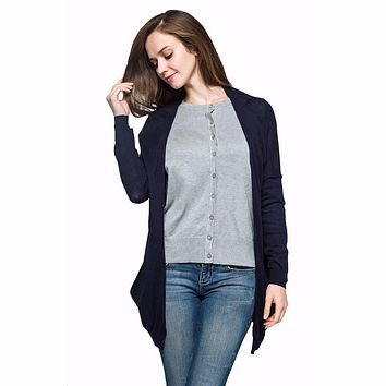 Thin Spring Summer Autumn Loose Long Cotton Women Plus Size Long Sleeve Sun Protection air conditioning Sweater Cardigan