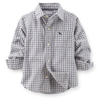 Button-Front Flannel Shirt