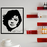 Natalie Wood Wall Decal Framed 17 x 20 Inches