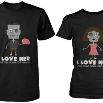 Halloween Zombie Shirts for Couples - 365 Printing Inc