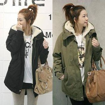 Winter cotton jacket in the long section of lambskin cotton clothes [73421815834]