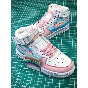 Nike Air Force 1 Af1 Mid Peppa Pig Sport Shoes - Sale 1f71594e0