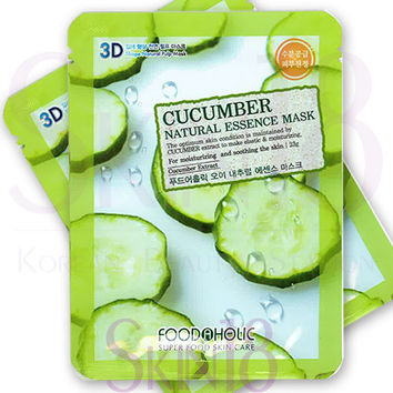 Foodaholic 3D Cucumber Natural Essence Mask  *exp.date 03/18*