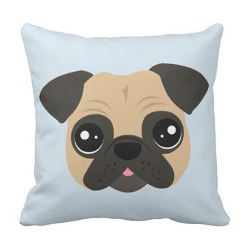 Cute Pug Pillow