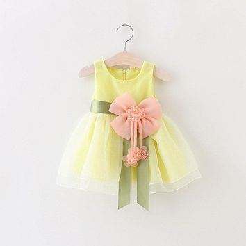 Hot Sale Christmas Super Flower girls dresses for party and wedding Dot print Princess Kids Dress Fashion Children's Clothing AA