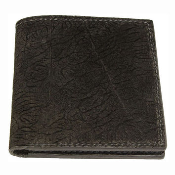 Hippo Hide Hipster Wallet in Black - Real Hippopotamus Hide Leather - Free Shipping to USA