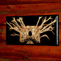 Diablo art - Tyrael woodburned home decoration