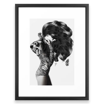 Society6 Bear #2 Framed Print