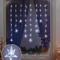 LED Star Window Icicle Lights for Christmas Window Decoration