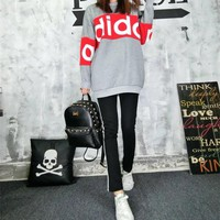 """Adidas"" Women Casual Multicolor Letter Print Long Sleeve Sweater Trousers Set Two-Piece Sportswear"