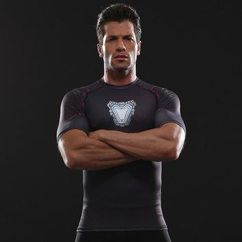 Avengers 3 Raglan Sleeve Compression Shirts Iron Man 3D Printed T shirts Men 2018 Summer Comics Cosplay Costume Top For Male