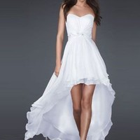 Sexy A-line Sweetheart Asymmetrical Chiffon Beaded Prom Dress / Evening Dress 2011 New [10105424] - US$95.99 : DressKindom