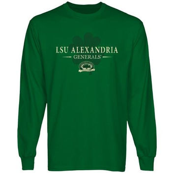 LSU Alexandria Generals St. Paddy's Long Sleeve T-Shirt - Green
