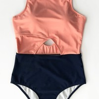 Cupshe Good To Me Solid One-piece Bikini Set