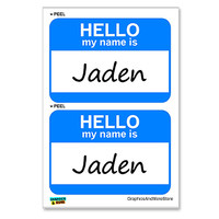 Jaden Hello My Name Is - Sheet of 2 Stickers