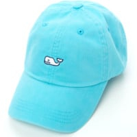 Vineyard Vines Signature Whale Logo Baseball Hat- Aqua Blue
