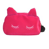 Women Cosmetic Pouch Bags Fashion Ladies Makeup Organizer Bags Clutches Purses Wallets Women's Bags Cute Cat Bag Bolsa Feminina