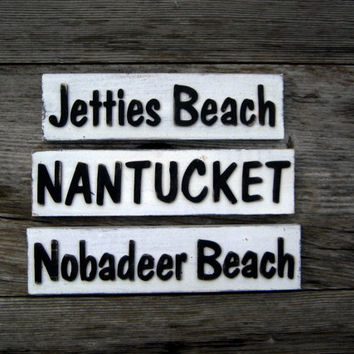 Beach Sign - Nantucket Sign - Beach Decor - Personalized Sign - Custom Sign - Cottage Sign - Rustic Decor - Black and White