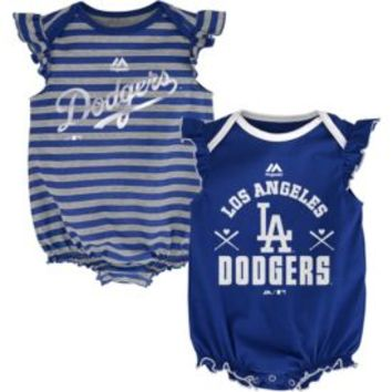 Majestic Infant Los Angeles Dodgers Two-Piece Sparkle Onesuit Set| DICK'S Sporting Goods