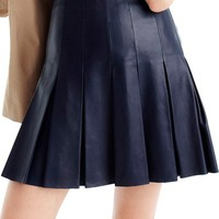 J.Crew Pleated Leather Skirt | Nordstrom