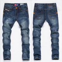 Denim Men Korean Slim Pants Jeans [6528465347]