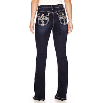 Love Indigo Embellished-Back-Pocket Jeans