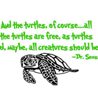 Dr Seuss And The Turtles Of Course with Sea by IndigoChicCreations