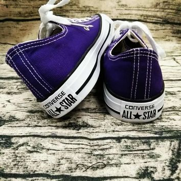 """Converse"" Trending Fashion Casual Running Canvas Flats Sneakers Sport Shoes Purple G"