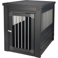 Composite Dog Crate And End Table In Black