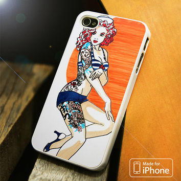 Pin Up Girl Tatto Costume iPhone 4 | 4S, 5 | 5S, 5C, SE, 6 | 6S, 6 Plus | 6S Plus Case